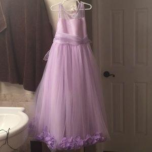Girls lilac flower fancy dress
